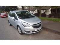 2014 VAUXHALL MERIVA 1.4T TURBO EXCLUSIV AC 5D AUTO IN SILVER **LOW MILEAGE**
