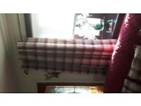 CURTAINS BALMORAL RED CHECK