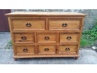 Beautiful large solid pine chest