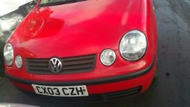 volkswagen polo sdi 3 door hatchback red 2003