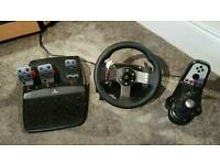 Logitech G27 wheel + pedals + H-Shifter PS3 PS4 PC
