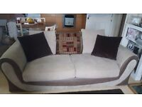 Brown and Beige sofa
