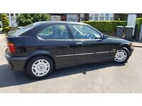 BMW 316I 1.9 COMPACT SE PETROL , BLACK, 49791 MILEAGE ONE KEEPER SINCE NEW, COMPLETE SERVICE HISTORY