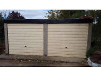 Double Garage - Concrete with metal doors (5m deep x 4.7m wide x 2.2m high) - AVAILABLE MID NOVEMBER