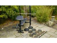 Domoyos Weight bench and 100kg weights
