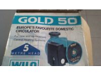 BRAND NEW IN BOX CENTRAL HEATING WATER PUMP, WILO GOLD 50