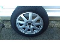 Ford alloys & tyers set of 5