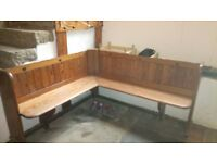 Church pew/ corner bench reduced price to go quickly