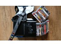 PS3 + Guitar Hero (with dongle) with 20+ games