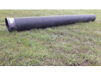Twin wall drainage pipes with collar