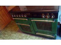 Rangemaster 110cm Green Dual Fuel Range Gas Hob Electric Oven