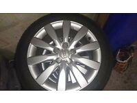 """4 alloy wheels 17"""" and tyres Audi A4 2008/09"""