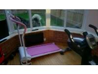 Pink electric treadmill