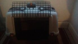 LARGE KOKOBA DOG CRATE - USED TWICE- HARD CASE WITH REMOVABLE FLOOR AND FRONT OPENING