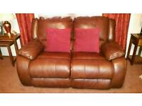 2 seater manual recliner sofa and 2 electric recliner chairs