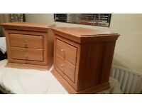 2x quality solid pine bedside cabinets