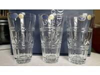 Lead crystal glasses x6 brand new