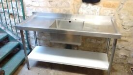 Stainless Steel Catering (Double Drainer) Sink