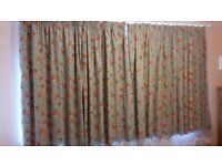 Cath Kidson style Ikea Rosali made to measure curtains with 2 matching single duvet sets