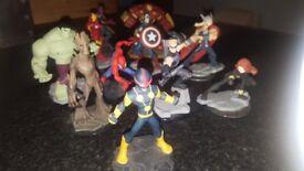 Disney Infinity figures x11. Various Marvel superheroes