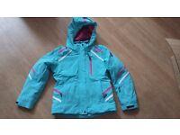 Girl's turquoise CMP ski jacket age 10 140cm