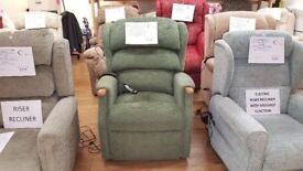 Ex-Display Grande Sized HSL Linton Dual Motor Riser Recliner Chair, Delivery Available