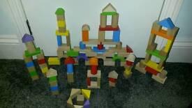 Wooden blocks 99 in total