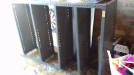 DEXIAN HEAVY DUTY METAL SHELVING RACKS. Makes 2 units 6' wide or can be separated.