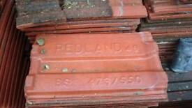 Redland 49 red roof tiles approx 1000