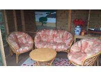 Garden Rattan 3 piece sofa set