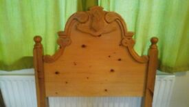 PINE SINGLE HEADBOARDS, CARVED QUALITY PINE, CHOICE OF ONE, TWO OR THREE LIKE THE ONE PICTURED