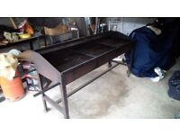 6x2ft charcoal bbq great for event catering fates sports club's etc