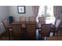 Laura Ashley Arlington Dining table with 8 chairs