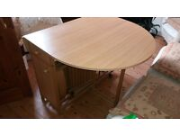 Drop leaf (folding) table & 4 chairs