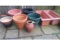 Plant pots -- various