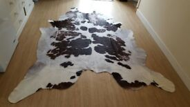 Genuine Large Cow hide Rug great condition