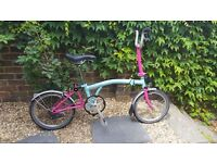 Easy to fold Brompton compact city bike, almost new, £550 ono