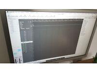 """Mac Pro 1.1 Xeon and 23"""" cinema screen."""