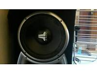 """JL AUDIO W6V1 12"""" X2 SUBWOOFERS 1200 WATTS EACH DUAL VOICE COIL (need re-conning)"""