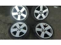 18inch 5x112 genuine audi rs6 alloys rims wheels fit vw passat sharan caddy van etc