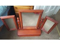 Lovely dressing table mirror with drawer