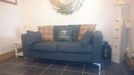 Retro grey sofa
