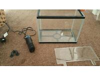 Starter fish tank and filter (used)