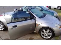 Silver ford ka luxury convertible