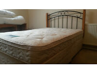 Double divan bed with 4 drawers, headboard and Mattress