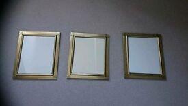 Set of 3 10x12 gold frames NEW
