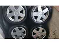 Ford 15 '' alloy wheels + 4 x tyres 195 50 R15''