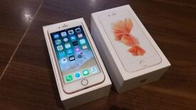 """Apple IPhone 6S 64GB 4.7"""" 12MP Smartphone in Rose Gold On 02 Network"""