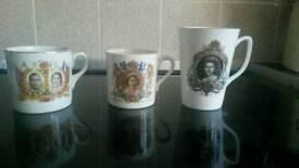 A pair of Royal Cronation Mugs & Juilee mugs