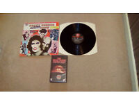 THE ROCKY HORROR PICTURE SHOW-12.INCH VINYL LP + VHS VIDEO-EX